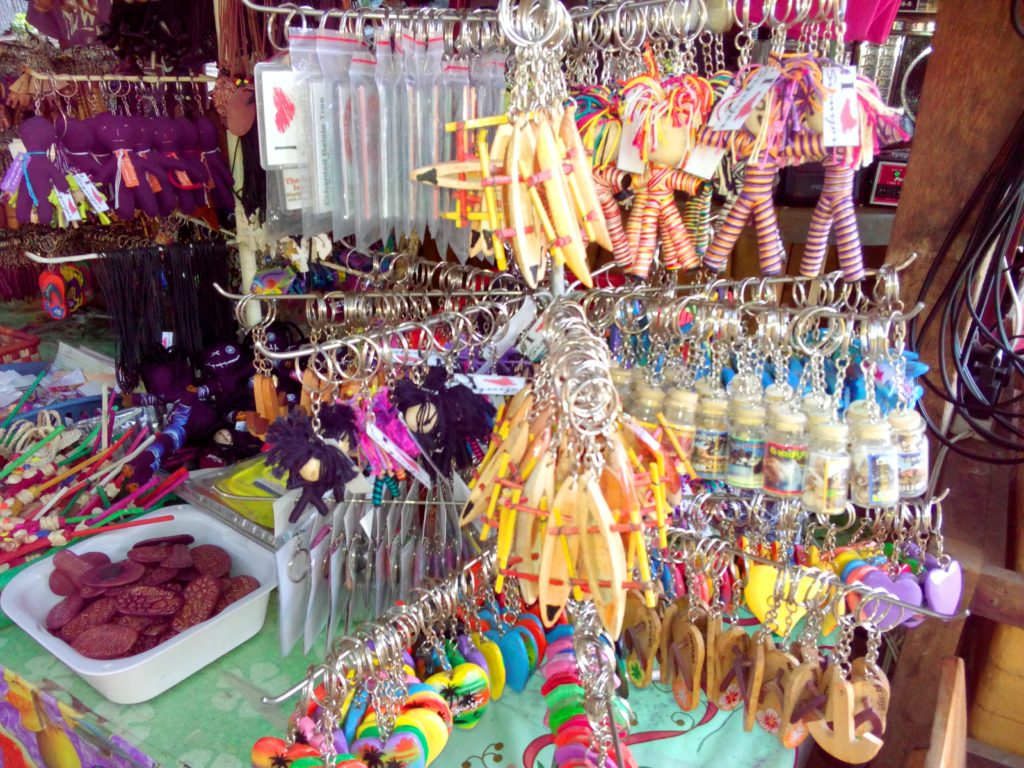 Souvenir key chains and local bling blings